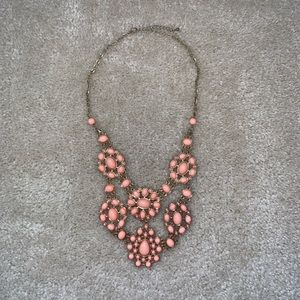 Peach Detailed Necklace